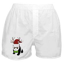 Hipster Christmas Panda Boxer Shorts