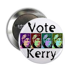 Vote Kerry Pop-Art Button