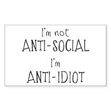 Anti-Idiot Decal