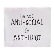 Anti-Idiot Throw Blanket