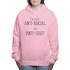 Anti-Idiot Women's Hooded Sweatshirt