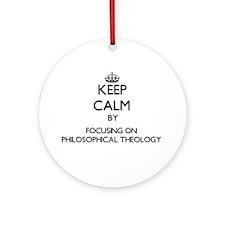 Cute Philosophers Ornament (Round)