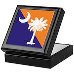Orange Purple SC Flag Keepsake Box