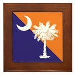 Orange Purple SC Flag Framed Tile