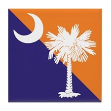 Orange Purple SC Flag Tile Coaster