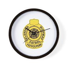 Oklahoma Highway Patrol Wall Clock