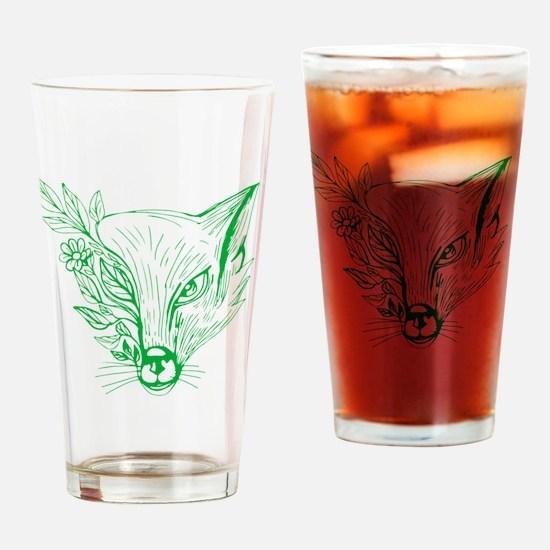 Cool Fox head Drinking Glass