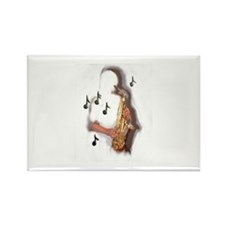 Musician abstract saxophone player Magnets