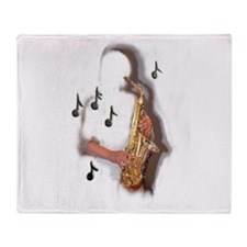 Cute Saxophone Throw Blanket