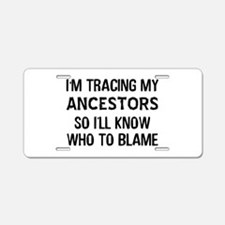Funny Genealogy Aluminum License Plate