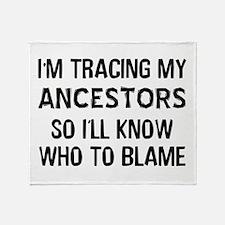 Funny Genealogy Throw Blanket