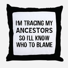 Funny Genealogy Throw Pillow