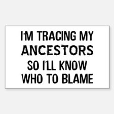 Funny Genealogy Decal