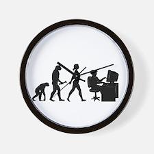 Desk Evolution Wall Clock