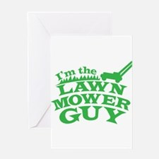 Im the LAWN MOWER GUY with green grass Greeting Ca