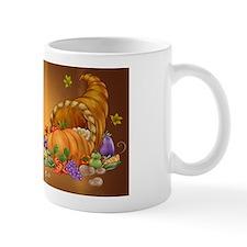 Thanksgiving Cornucupia Fruit And Veg Cartoon Mugs