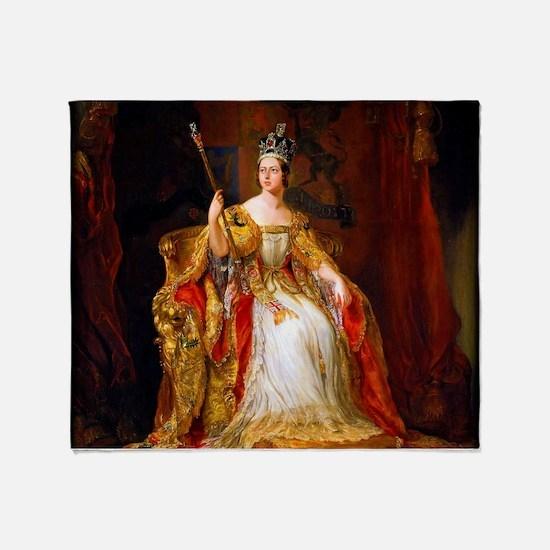 Queen Victoria Throw Blanket