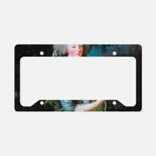 Marie Antoinette with Rose License Plate Holder
