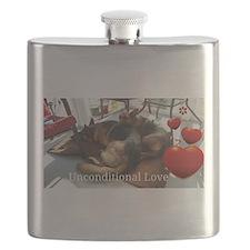 Unique German shepherd Flask