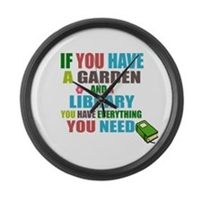If you have a garden and a Library Large Wall Cloc