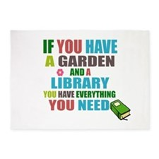 If you have a garden and a Library 5'x7'Area Rug