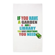 If you have a garden and a Library 3'x5' Area Rug