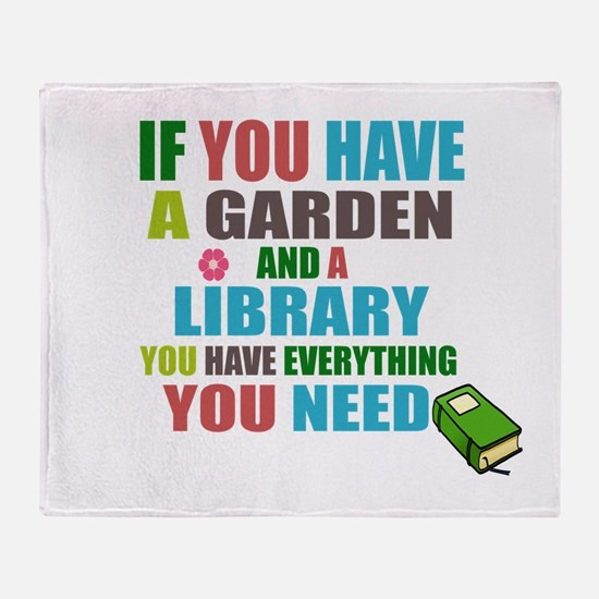 If you have a garden and a Library Throw Blanket