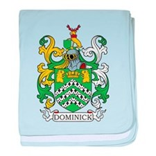 Dominick Family Crest baby blanket