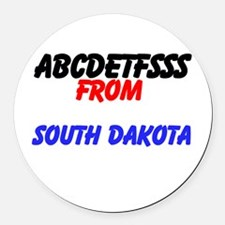 PERSONALIZE IT Round Car Magnet