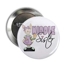 Middle Sister Bunny (violet) Button