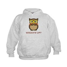 Mustache Owl with Glasses Hoodie