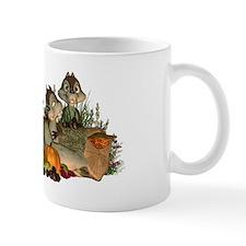 Thanksgiving Cornucopia And Cute Sqirrel's Mugs