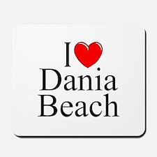 """""""I Love Dania Beach"""" Mousepad"""