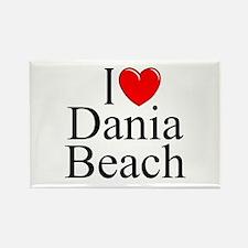 """I Love Dania Beach"" Rectangle Magnet"