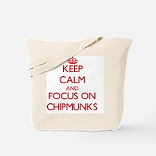 Cute I love chipmunks Tote Bag