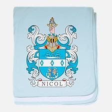 Nicol Family Crest baby blanket