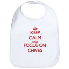 Unique Keep calm chive Bib