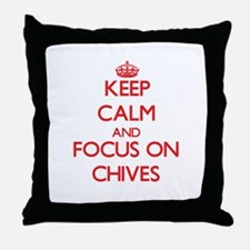 Cute Chive Throw Pillow