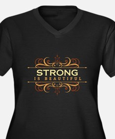 Strong is Be Women's Plus Size V-Neck Dark T-Shirt