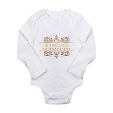 Strong is Beautiful Long Sleeve Infant Bodysuit