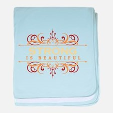 Strong is Beautiful baby blanket