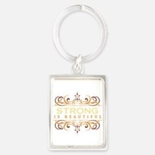 Strong is Beautiful Portrait Keychain