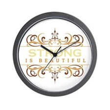 Strong is Beautiful Wall Clock