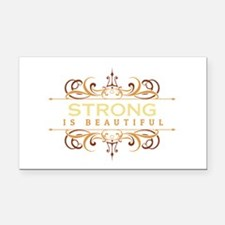 Strong is Beautiful Rectangle Car Magnet