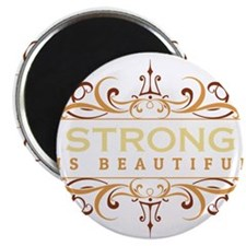 "Strong is Beautiful 2.25"" Magnet (10 pack)"