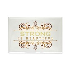 Strong is Beautiful Rectangle Magnet