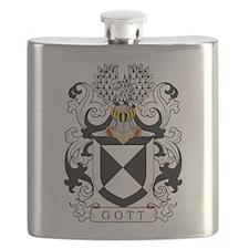 Gott Family Crest Flask