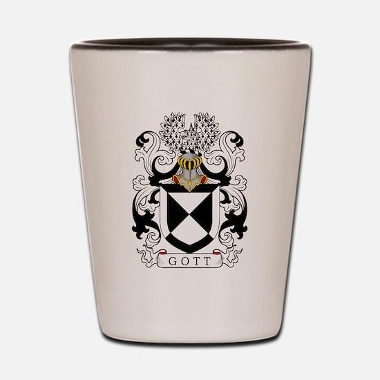 Gott Family Crest Shot Glass