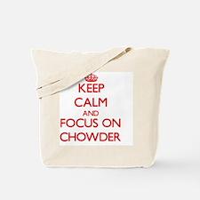 Funny I heart chowder Tote Bag
