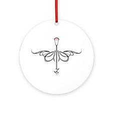 Lacrosse Script Ornament (Round)